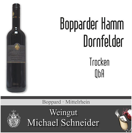 Bopparder Hamm Dornfelder, trocken
