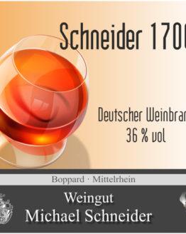 Schneider 1700 Weinbrand