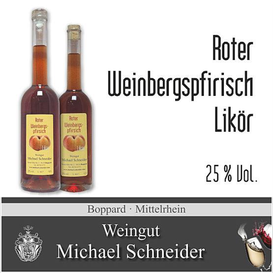 Roter Weinbergspfirsich Likör, 25 % Vol.