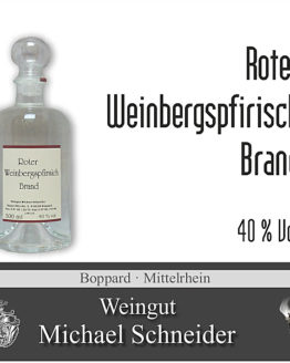 Roter Weinbergspfirsich Brand, 40 % Vol